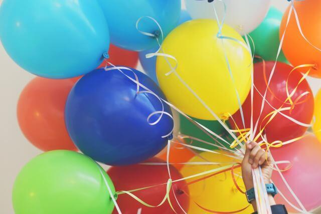 誕生日パーティーの風船