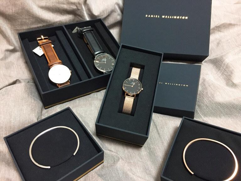 ダニエルウェリントンの腕時計とブレスレット