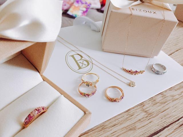 Bizouxの指輪とネックレス