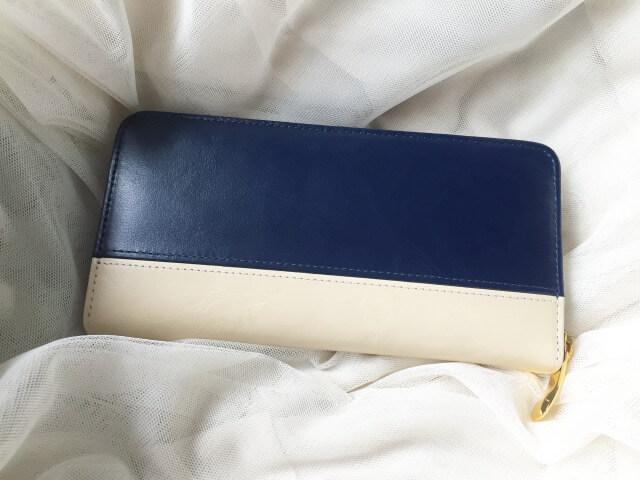 レディースラウンドファスナー財布の裏側