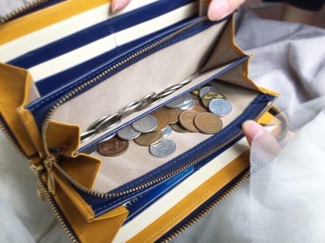 JOGGOレディースラウンドファスナー財布の小銭入れ