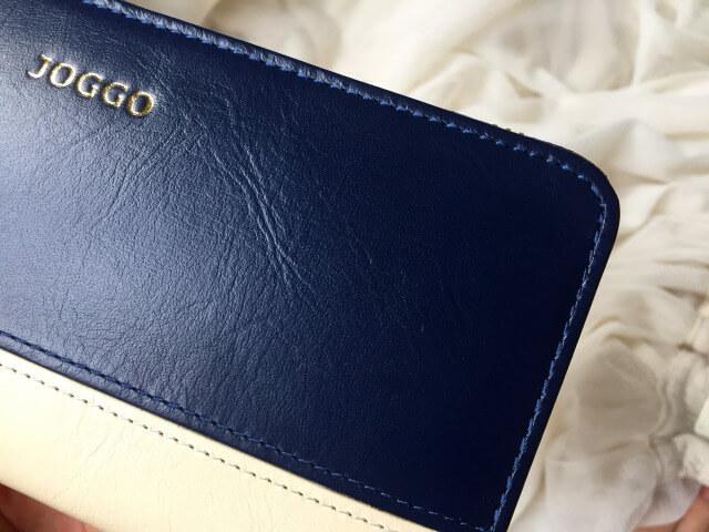 レディースラウンドファスナー財布の縫い目ステッチ