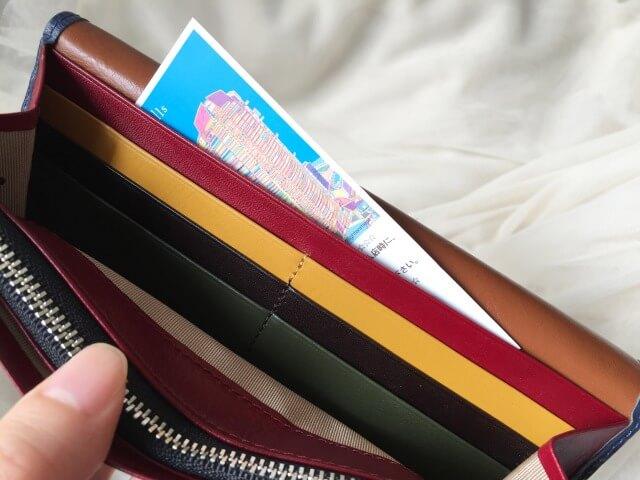 JOGGO本皮長財布の収納ポケット