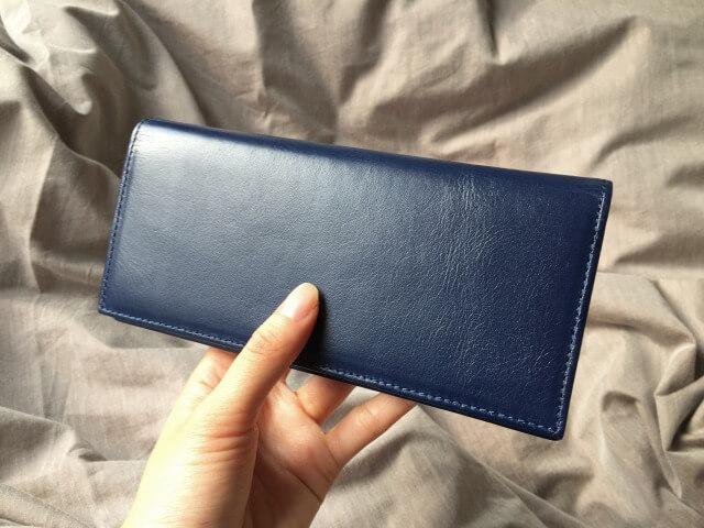 JOGGO本皮長財布の質感
