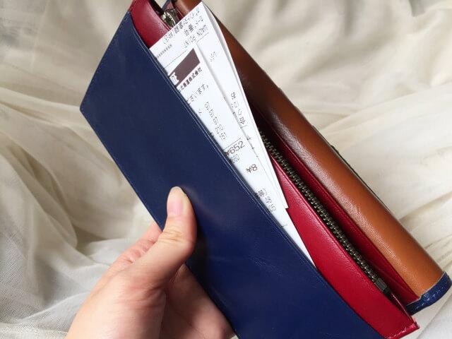 本皮長財布の収納ポケット