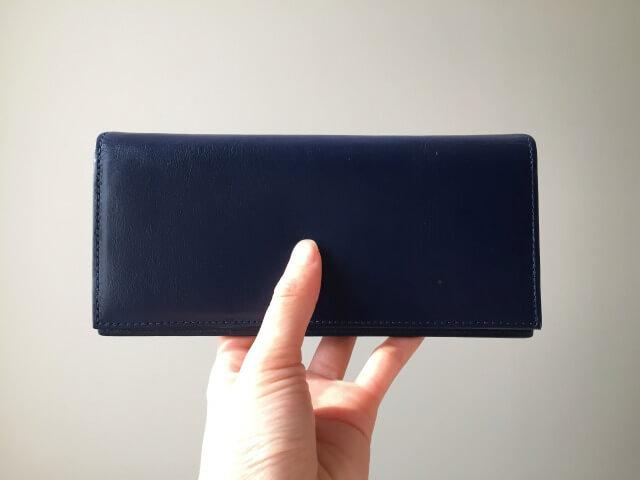 本皮長財布の手触り