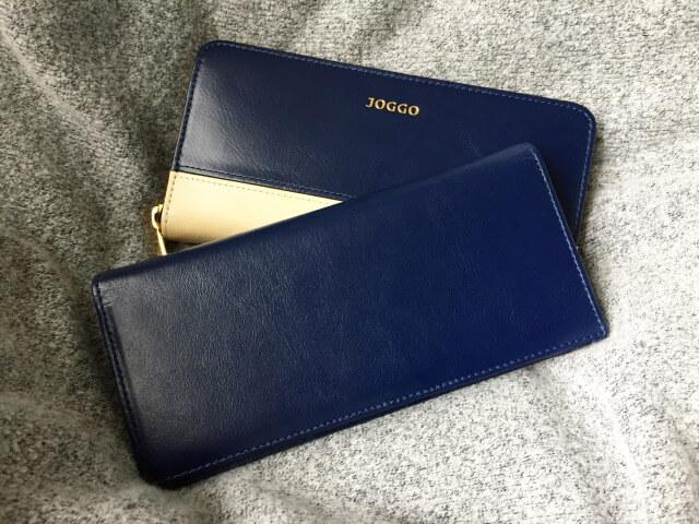 JOGGOレディースラウンドファスナー財布と本革長財布