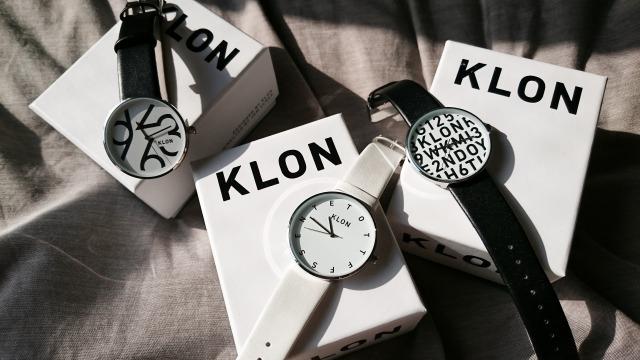 KLONの腕時計と箱