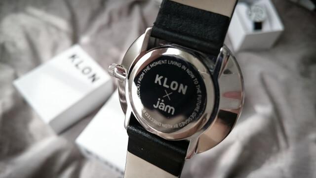 KLON文字盤裏側