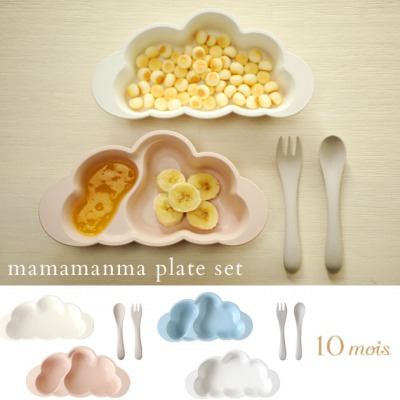 10mois(ディモワ) mamamanma プレートセット マママンマ