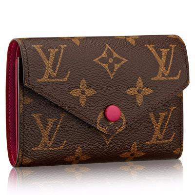 ルイヴィトン LOUIS VUITTON 財布 二つ折り財布 ポルトフォイユ・ヴィクトリーヌ モノグラム・キャンバス フューシャ