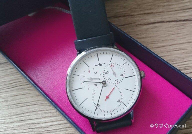 トランスコンチネンツの腕時計のスモールセコンドとクロノグラフ部分