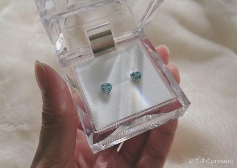Jewelry ROLA(ジュエリーローラ) 心葉のハートシェイプカットピアス(アクアマリン)