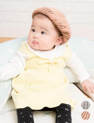 授乳服とマタニティウェアのスウィートマミー コットン100% ベビー ニットベレー帽 帽子