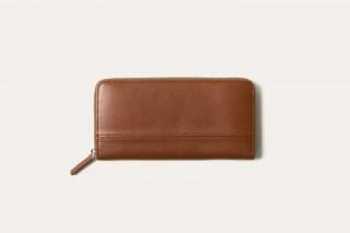 Business Leather Factory ビジネスレザーファクトリー 長財布(蛇腹ラウンドファスナー)
