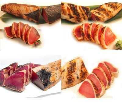 築地魚群 炭火焼き 4種たたきの食べ比べ4本セット 焼津産