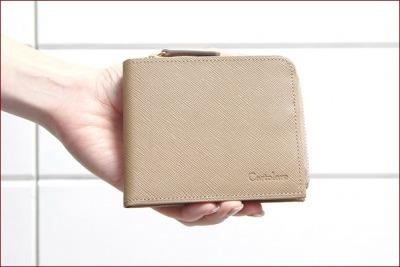 cartolare(カルトラーレ) L字ファスナー本革二つ折り財布「ジャミーウォレット」レディース