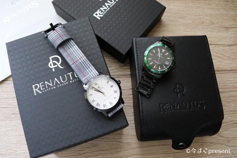 ルノータス(RENAUTUS)の腕時計2本