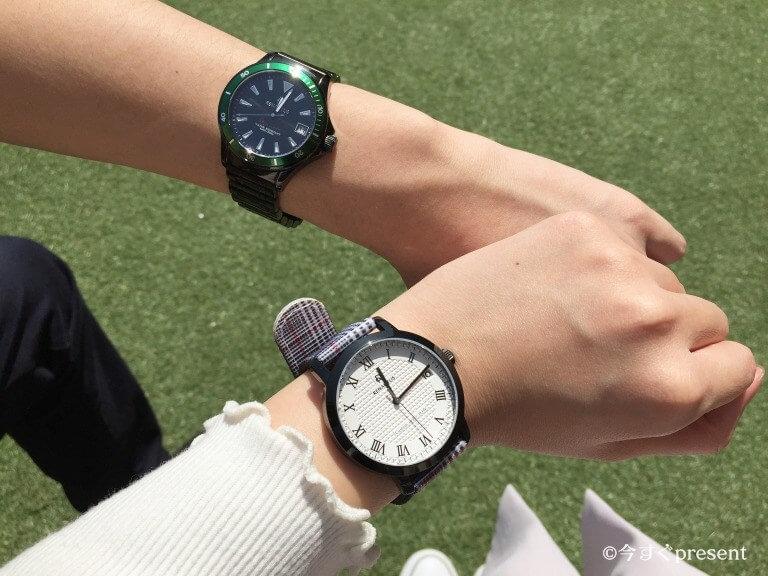 ルノータス(RENAUTUS)の腕時計ペア着用写真