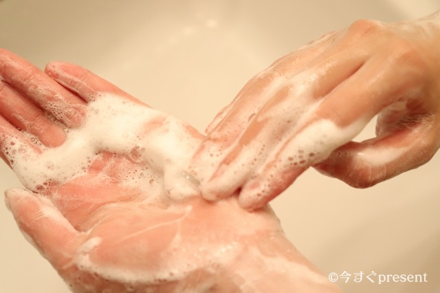 SWATi_石鹸を手に馴染ませている画像