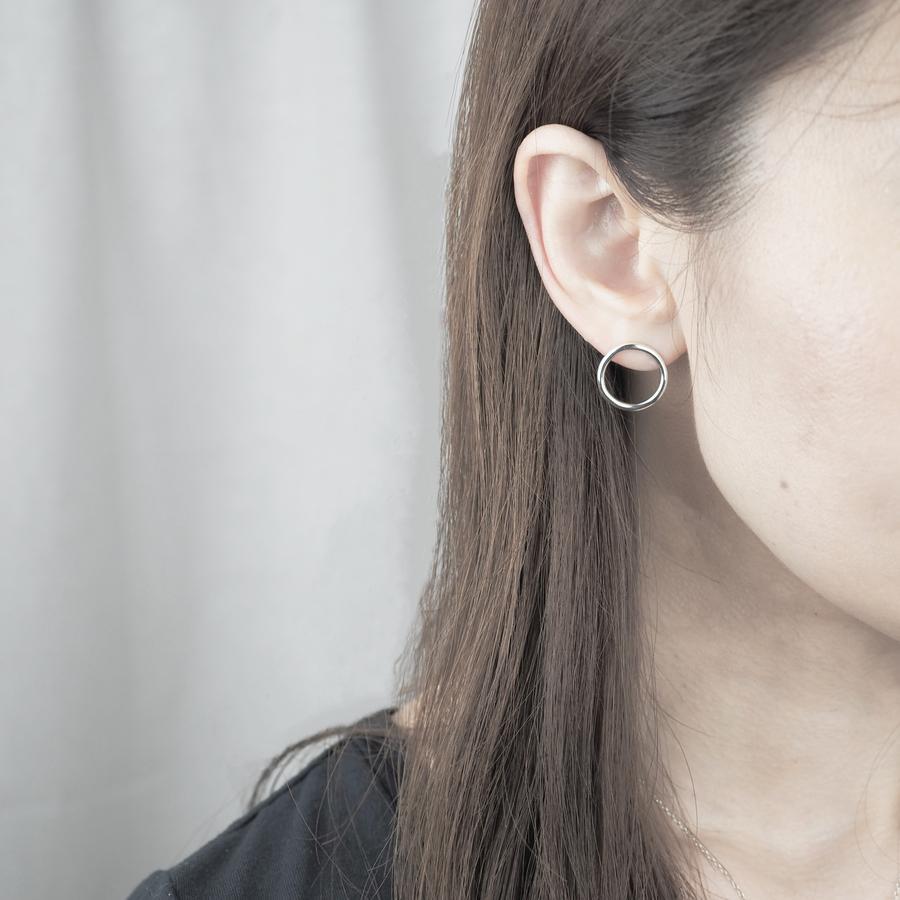 yuzen_ユゼン_SILVER PIERCE CIRCLE_商品写真2