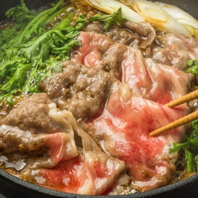 松商 松阪牛・神戸牛 肩ロースすき焼き食べ比べセット