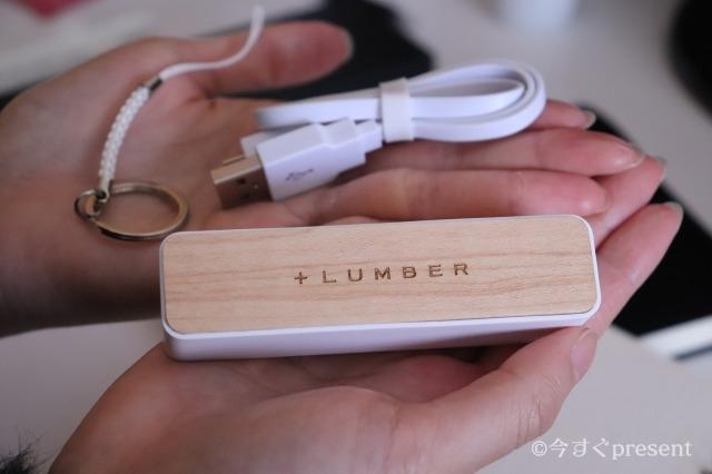 +LUMBER_木製バッテリーをicoが持っている写真