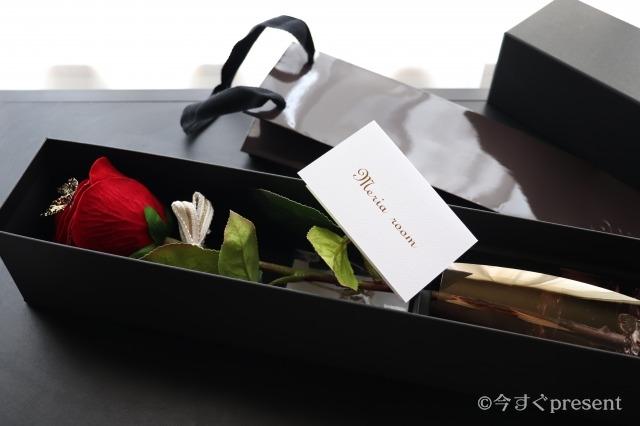 メリアルームメン_メッセージフラワー 赤バラ