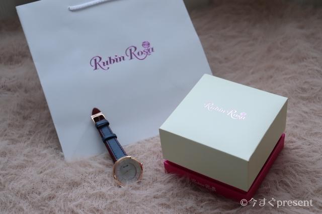 ルビンローザ_腕時計_ボックスとギフトボックス