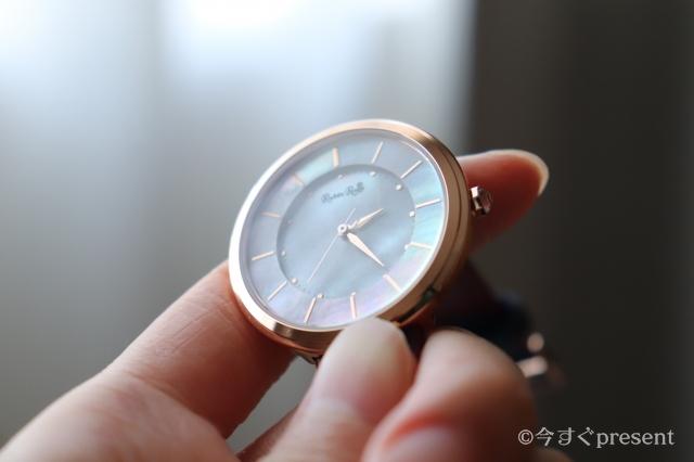 ルビンローザ_腕時計文字盤シェル_R060