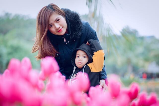 子供と妻のイメージ