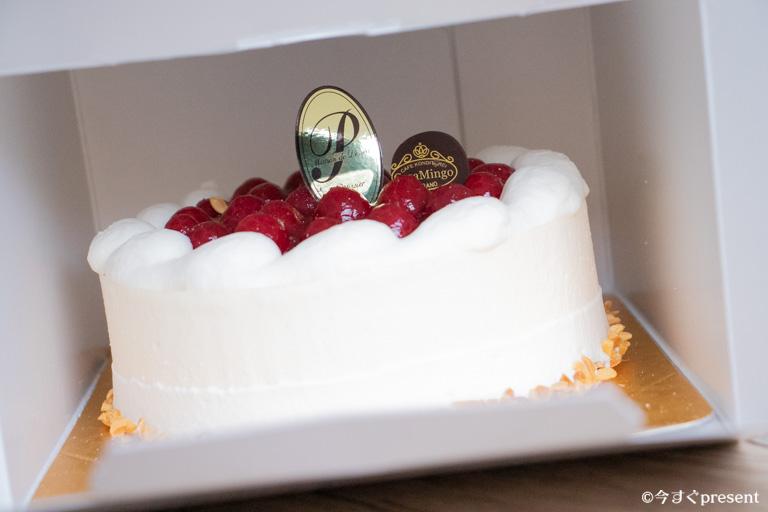 カサミンゴー_届きたてのケーキ