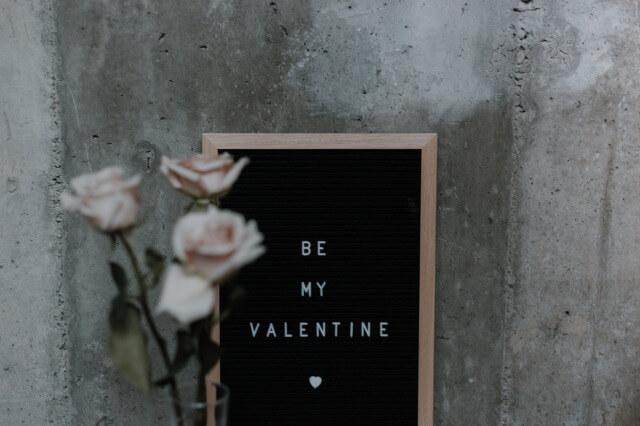 バレンタインの飾り