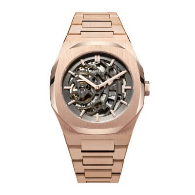 D1 MILANO P701 Automatic Skeleton Watch Rose Gold Case with Rose Gold Bracelet_商品写真