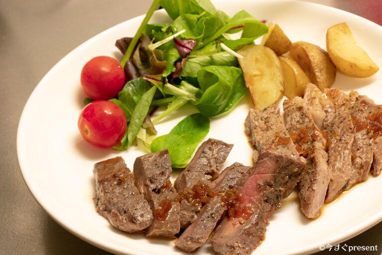 BONIQで焼いたお肉2
