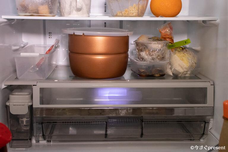 プレッシャーキングプロ_冷蔵庫に入れた写真