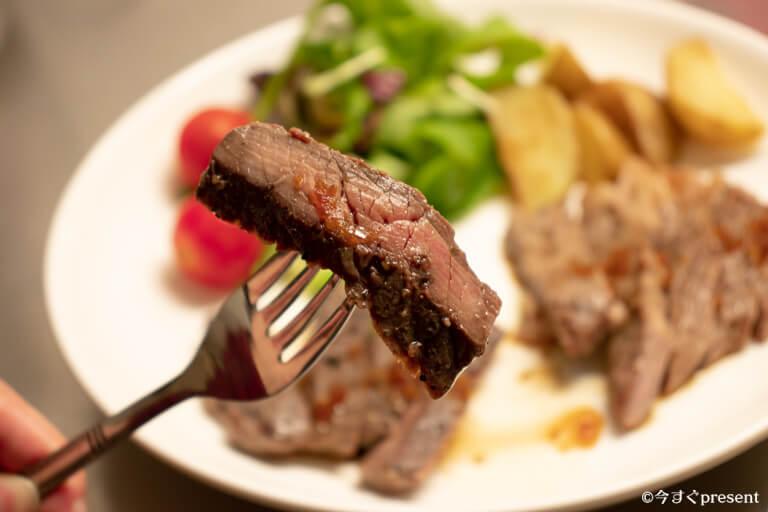 BONIQで焼いたお肉