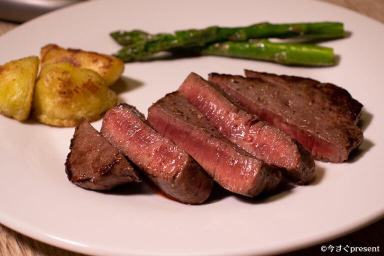 松阪牛やまと_肉ギフト_焼いたステーキ