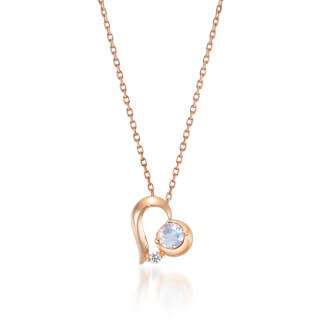 STAR JEWELRY K10 ネックレス HEART MOON