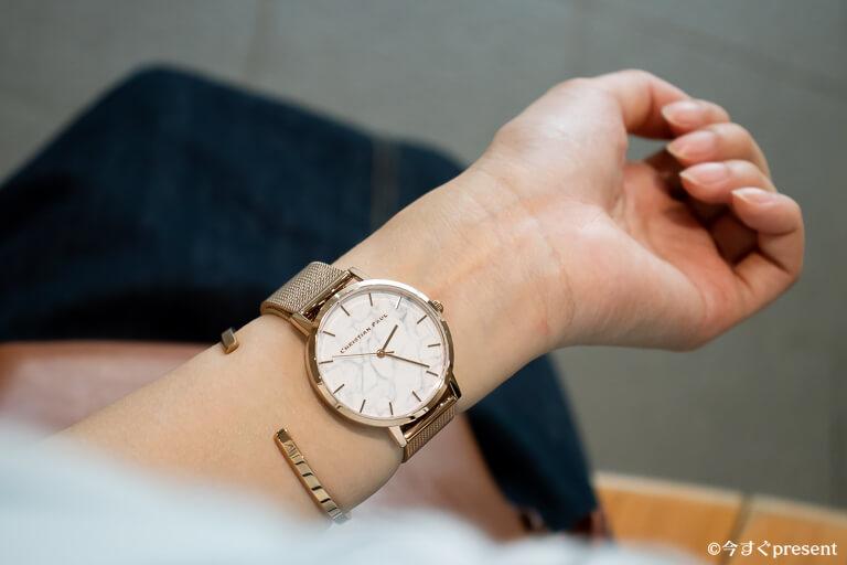 クリスチャンポール 腕時計 着用