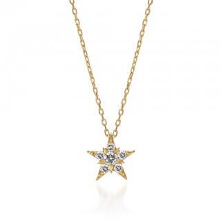 STAR JEWELRY スタージュエリー K18 ネックレス STAR of STARS