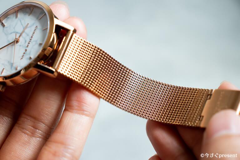 クリスチャンポール 腕時計 メッシュベルト