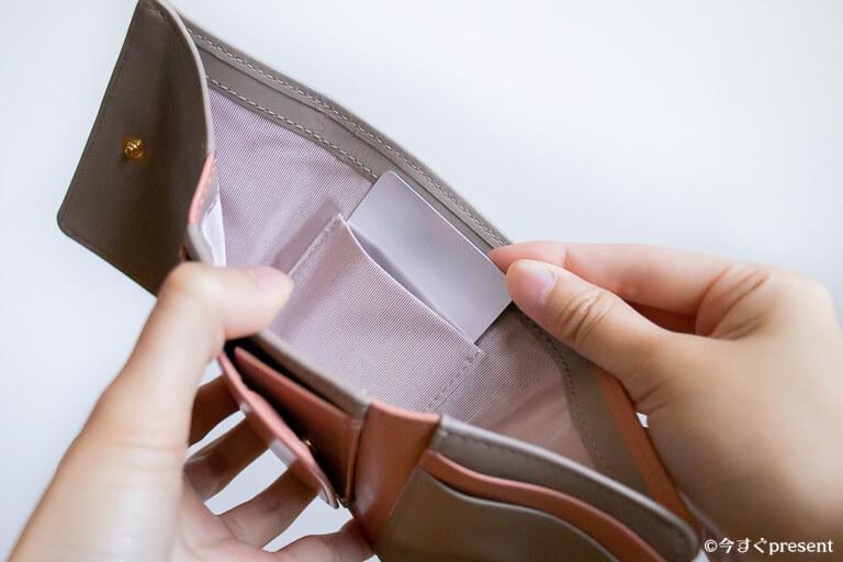 JOGGO_レディース三つ折り財布_お札入れ部分のカードポケット_2