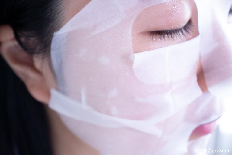 Arama Mask アラママスクを顔につけた写真
