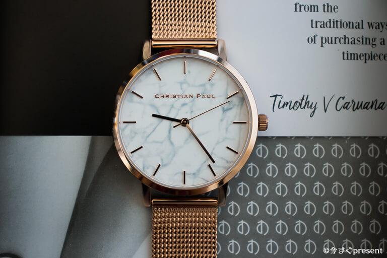 クリスチャンポール 腕時計 マーブルメッシュ