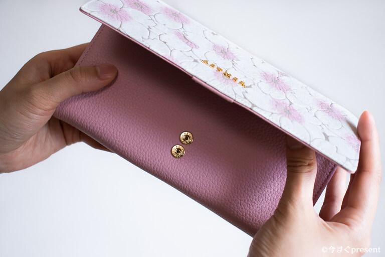 AETHER エーテル 財布 サクラ・ジャルダン スナップボタン
