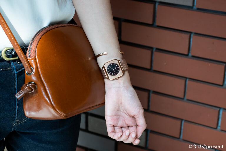 KYOMO WATCHS_腕時計_シンプルコーデ