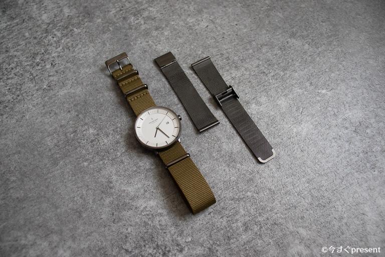 Nordgreen_腕時計_ベルト交換できることがわかる写真
