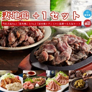 宮崎 妻地鶏ファーム 炭火焼+1セット