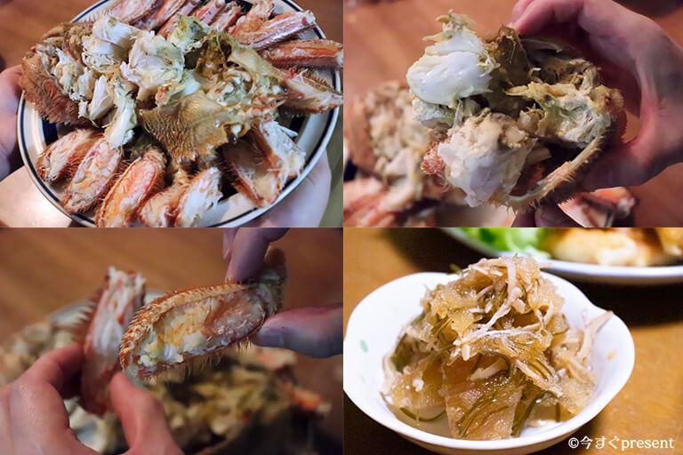 かに_浜海道_毛ガニと松前漬け_実食検証した写真